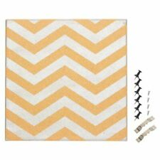 Cork Bulletin Board Decorative Wall Décor Cork board with Silver Chevron Design