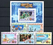 242/SPACE RAUMFAHRT 1975 Mauretanien Mauritania Soyuz 522-26 B + Bl.13 B ** MNH