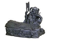 Gothic Fantasy Schmuckkästchen Sargkästchen mit Monsterskelett