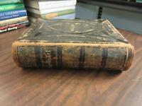 1874 German Lutheran Bible - Die Familien Bibel - Martin Luther FREE SHIPPING