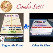 Combo Set Engine&Cabin Air Filter For CAMRY HYBRID 12-14 AVALON RAV4 17801-0V020
