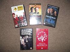 VHS Film Bundle Brad Pitt - Snatch,Twelve Monkeys,Oceans 11 x 6 Films on 5 Tapes