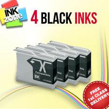4 BLACK non-OEM Ink for BROTHER MFC-235C MFC-240C MFC-260C MFC-440CN MFC-465CN