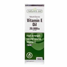 Natures Aid Natural Source Vitamin E Oil High Strength 20000iu 50ml Liquid
