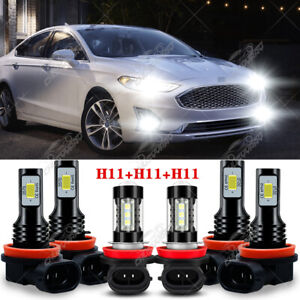 Para For Ford Fusion 2018 2019 2020 Combo Faros LED High Low + Faros antiniebla