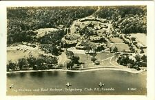 Montebello, QC Canada Log Chateau & Boat Harbor, Seigniory Club RPPC