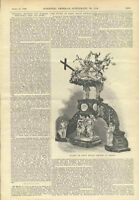 1898 St Bavon Church Ghent Sculpture Pulpit Scientific American Vintage Article