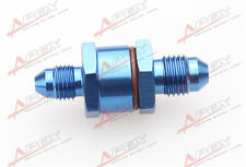 3AN Male To 3AN Male 30 Micron High Flow Billet Turbo Oil Feed Line Filter Blue