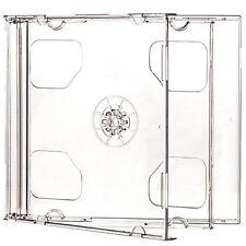 1 X CD DVD Double Jewel casi 10.4mm per 2 DISCO CON VASSOIO TRASPARENTE-confezione da 1