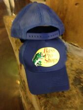 NEW! Royal Blue Cap by BASS PRO SHOPS Adult Unisex MESH Style Trucker Hat  B