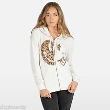 NWT VOLCOM Wash Out Zip HOODIE  Womens Size Small  NWT Cream New je157