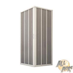 BOX DOCCIA PVC SOFFIETTO CABINA APERTURA CENTRALE BIANCO 70X70 80X80 60X60 70X80