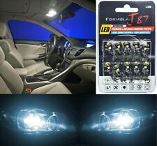 Canbus Error LED Light 194 White 6000K Ten Bulbs License Plate Tag Replace SMD