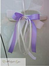 10 Autoschleifen Antennenschleifen Schleifen Hochzeit Deko Flieder Weiß elegant