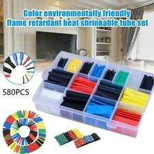 Useful 580PCS 2:1 Polyolefin Heat Shrink Tubing Tube Sleeve Wire Wrap Assor L1Z3