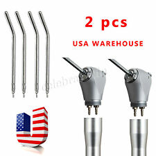 2 Dental Air Water Spray Triple 3 Way Syringe Handpiece * 4 Nozzles Tips Tubes V