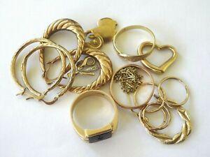 Scrap 9ct_10ct   375 Yellow Gold Jewellery  15.12 Grams