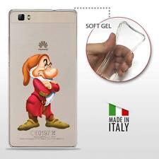 Huawei P8 Lite TPU CASE COVER PROTETTIVA GEL TRASPARENTE Disney Brontolo 7 Nani