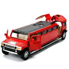 Hummer H2 Limo Stretch Toy Model Alloy Diecast SUV Replica Colle 4X4 4WD Off Car