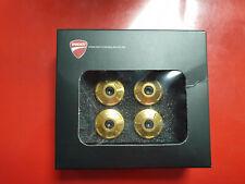 Ducati Performance Billet Aluminium Frame Plugs Gold for Monster 797 - 97380791A
