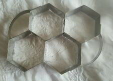 Vintage honeycomb shaped baking biscuit shape cookie cutter