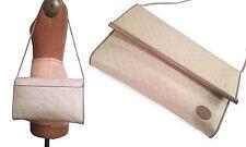 LIZ CLAIBORNE Vtg. Taupe Signature Leather Large Envelope Clutch / Shoulder Bag