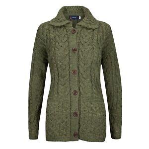 Aran Cardigan, 100% British Wool.