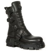 New Rock M.373X-S27 Mens/ Womens Ankle Boots ALL BLACK