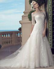 Casablanca Wedding Dress Style 2203 with jacket  New  Ivory Size 8