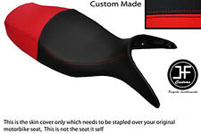BLACK & RED AUTOMOTIVE VINYL CUSTOM FITS BMW R 1100 S 98-05 DUAL SEAT COVER ONLY