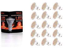 15X GU10 LED Lampe von Seitronic mit 3,5 Watt, 300LM und 60 LEDs Warm weiß 2900K
