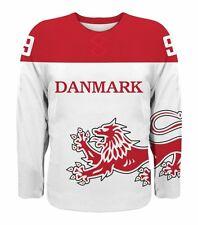 NEW 2018 Team Denmark Danmark Hockey Jersey NHL Nielsen Eller Hansen Regin IIHF