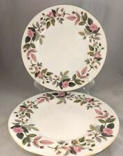 Set of 2 Wedgwood Hathaway Rose Dinner Plates