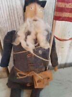 Primitive Handmade Americana Civil War Union Doll