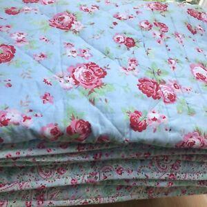 Cath Kidston IKEA Rosali English Roses Bedspread Quilt 180x 270cm Vintage Chic