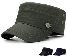 Men Women Adjustable Classic Army Plain Hat Cadet Military Baseball Cotton Cap