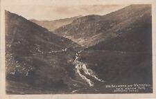 Postcard Rppc Snowdon and Waterfall Watkin Path Wales Uk