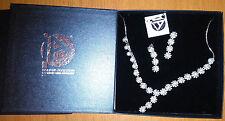 parure collier e orecchini perle sintetiche