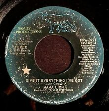 """1973 MAMA LION LYNN CAREY NEIL MERRYWEATHER PROMO 7"""" GIVE IT FAMILY PRODUCTIONS"""