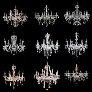 Lustre en cristal suspension pampilles plafonnier 4/8/10/15 bras Plafond vintage