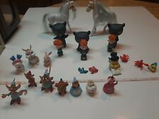 Mini Figure Lot, Cinderella, Little Mermaid, Brave, Thumper, Pvc 24 pieces mix