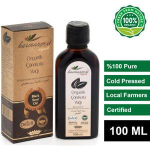 Black Seed Oil (%100 Organic), Pure Cold Pressed Virgin Nigella Sativa - 100 ml.