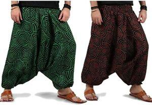 Harem Hippie Swirl Alibaba Boho Aladdin Summer Pants Dance Beach Yoga Unisex
