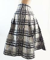 Superb David Lawrence Navy Silver flared skirt Ladies size 8 (S) Euro fabric