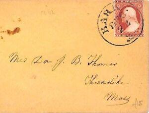 USA Classic Cover Superb *BARRE* Vermont CDS 1850s 3c Washington Franking AR203