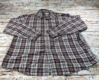 LL Bean Button Down Flannel Shirt Long Sleeve Plaid Mens Large REG- GPY7 MINT