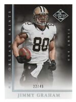 2014 Limited Silver Spotlight #73 Jimmy Graham /49 New Orleans Saints