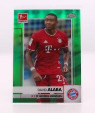 DAVID ALABA GREEN #/99 Topps Chrome Bundesliga Bayern München 2020/21