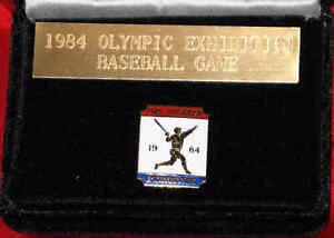 OLYMPIC BASEBALL - Rare 1984 Los Angeles Olympics Exhibition Game Pin