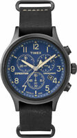 Timex TW4B04200, Men's Expedition Chronograph Leather Watch, Indiglo,TW4B042009J